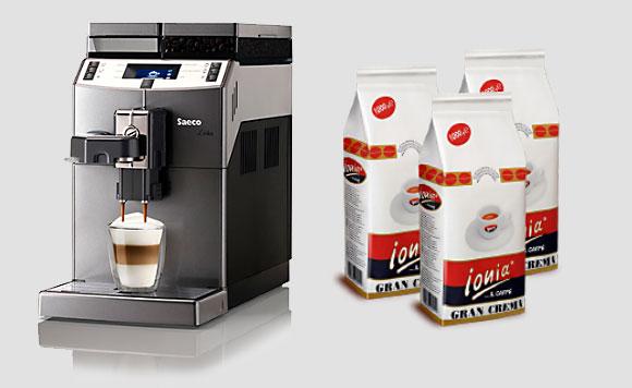 dzierżawa ekspresu do kawy - Saeco Lirika plus kawa